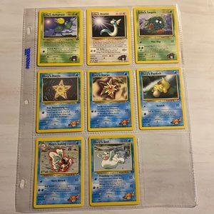 'Erika's' & 'Misty's' Pokémon cards - Set of 8